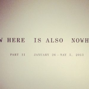 Now Here is Nowhere: Part II