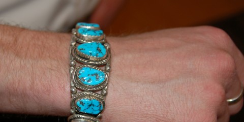 Travis David Smith's bracelet was made for him in New Mexico