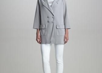 Armani Collezioni Snap Front Cocoon Jacket