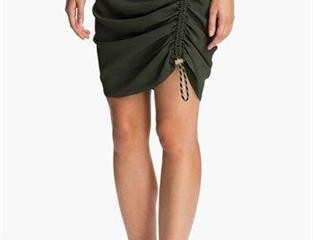 KENZO Side Ruched Crepe Skirt