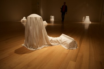 A ghostly sculpture by Cris Bruch for Others Who Were Here.