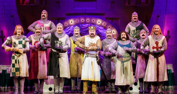 All local cast in Spamalot at the 5th Avenue Theatre