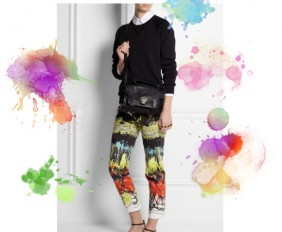 Cedric Charlier abstract print pants