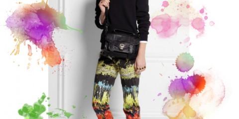 Cedric Charlier abstract print pants