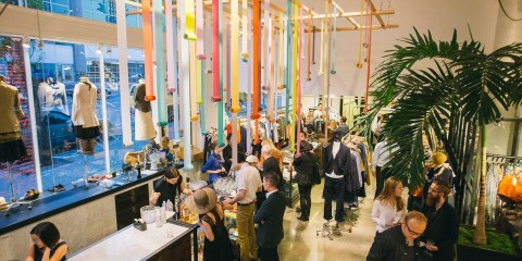 The gathering at Baby & Company in downtown Seattle for Gentlemanly