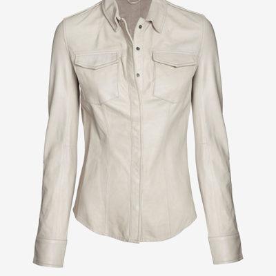 June Leather Shirt at Intermix