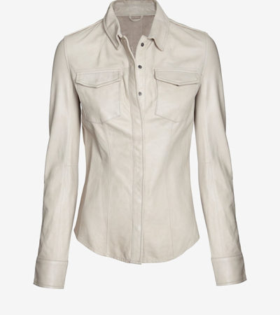 June Leather Shirt at Intermix