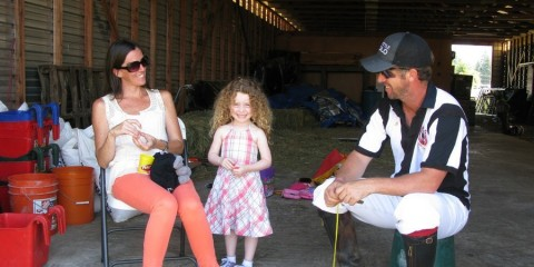 Polo Ref and his family enjoy a break between chukars.