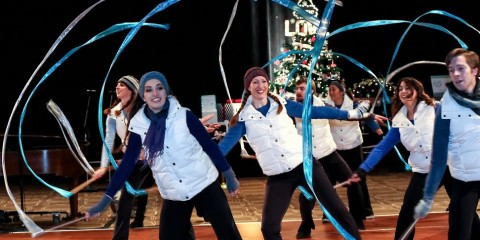 Splinter Dance 3 performing at the Christmas Carnival