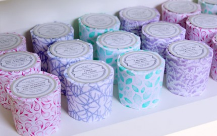Locally made, naturally scented candles by Marigold and Mint