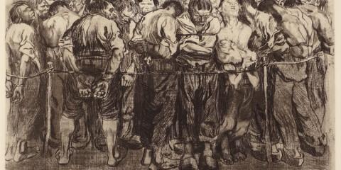 """""""Die Gefangenen (The Prisoners)"""" by Käthe Kollwitz. Image courtesy of Davidson Galleries and the artist."""
