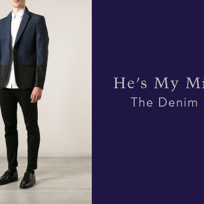 He's My Mister April 2015: The Denim Blazer