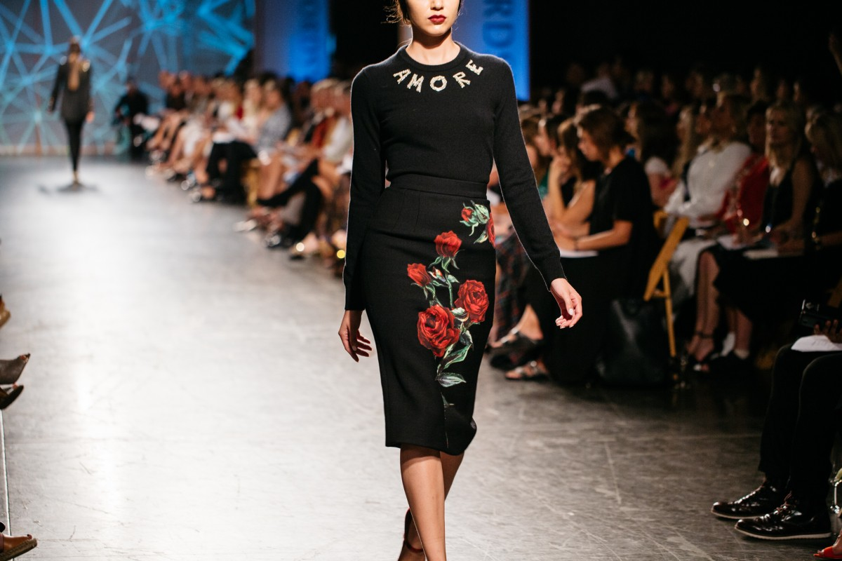 Dolce & Gabbana Sweater and Embroidered Skirt