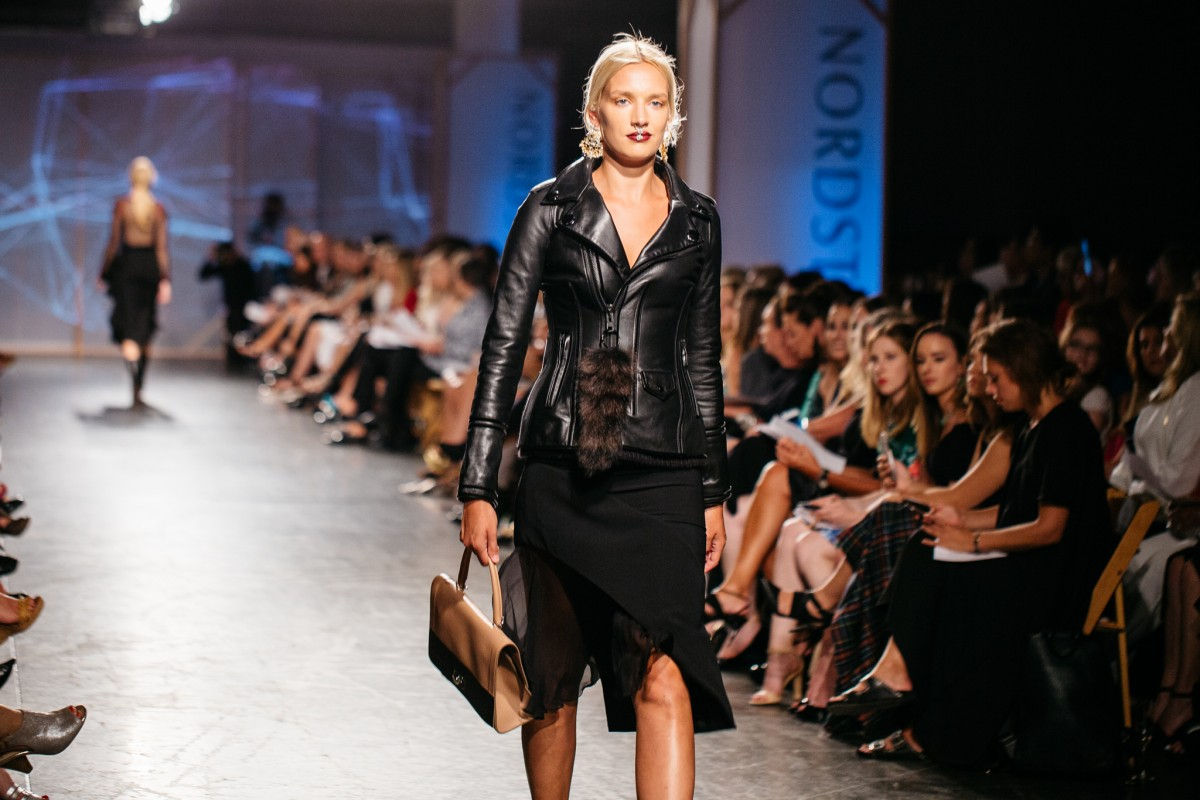Givenchy Asymmetrical Skirt and Motorcycle Jacket