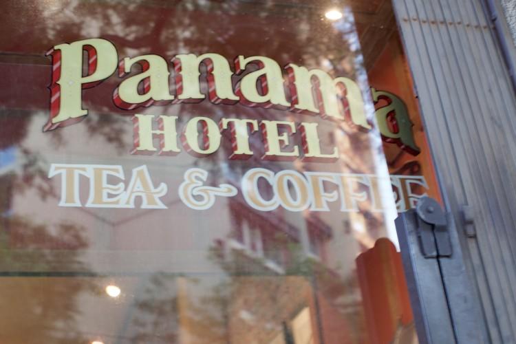 Signage at Panama Hotel