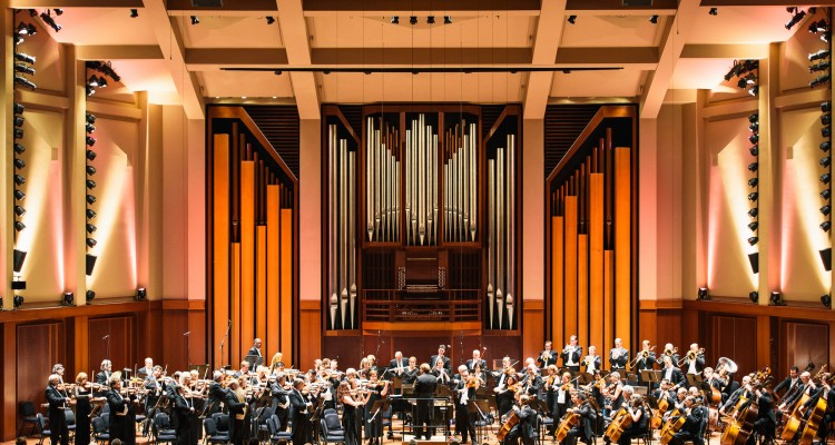Seattle Symphony plays the national anthem to open the 2015-16 Season. Photo by Brandon Patoc Photography.
