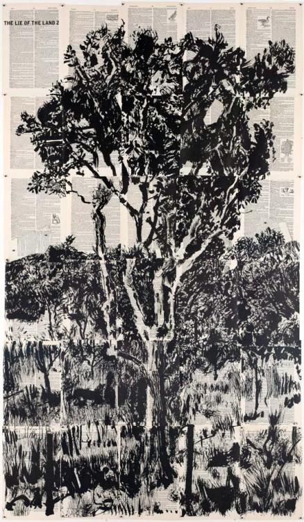 """Lekkerbreek"" by William Kentridge at Greg Kucera Gallery"