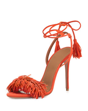 Aquazzura Wild Thing Suede Sandal