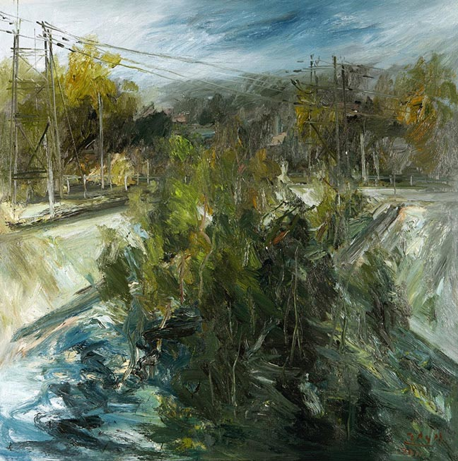 LA River painting by Victor Hugo Zayas