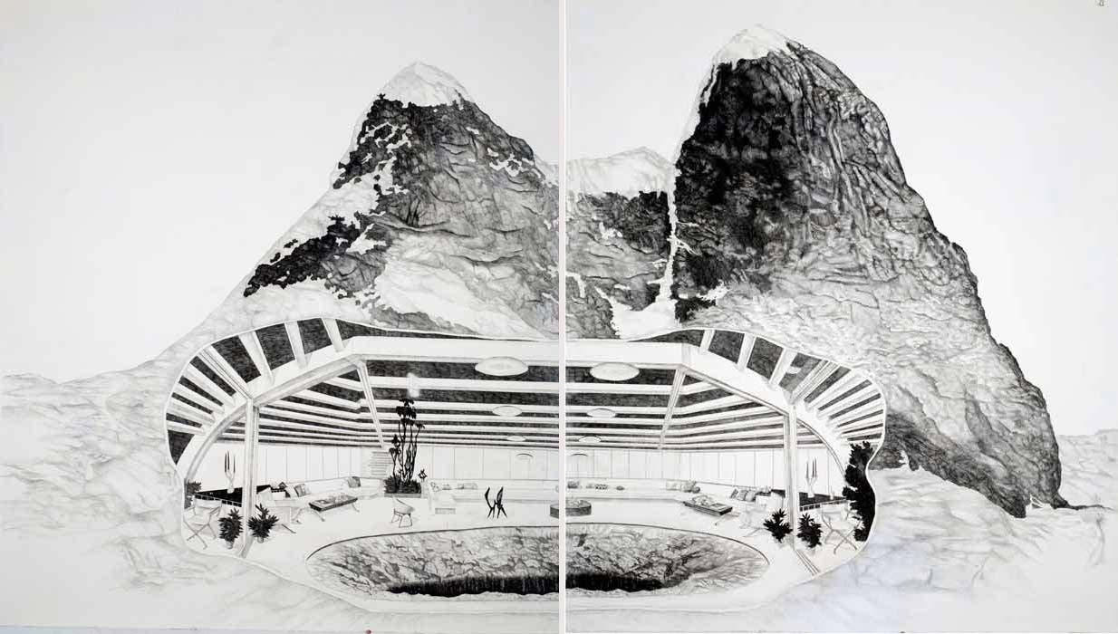 """Patte Loper, """"Observation Deck for a Bottomless Pit."""" Image courtesy of Platform Gallery."""
