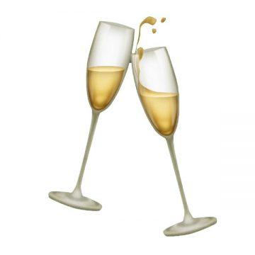 champagen toast emoji