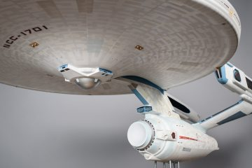 U.S.S Enterprise (refit) filming miniature. Photo by Brady Harvey.