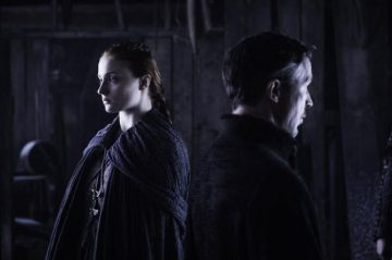 Sansa and Lord baelish iN Game of Thrones Season 6 Episode 5 The Door