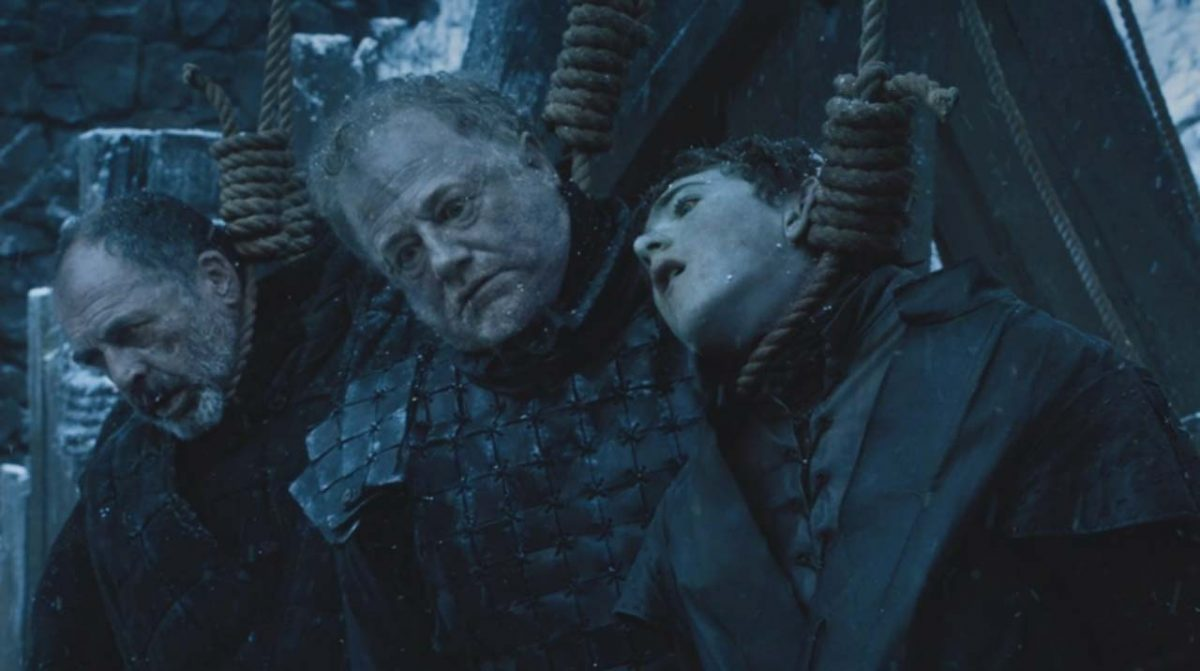 Alliser Thorne and Olly get hanged in game of Thrones