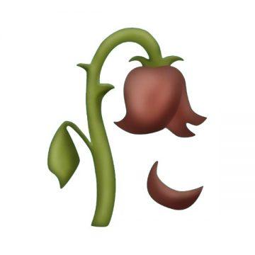 Wilted rose emoji