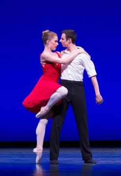 "Anissa Bailis and Dillon Perry performing ""Sing"" in Steven Loch's 3 for Ed. Photo © Lindsay Thomas."