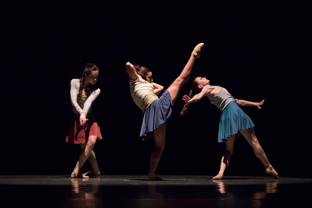 Madeline Abeo, Jimena Flores-Sanchez and Madeline McMillin in finding harmony by Sara Pasch. Photo © Lindsay Thomas.