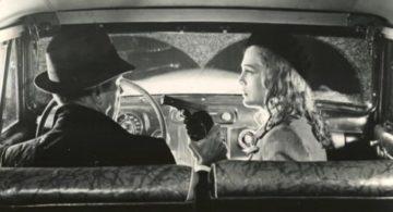 Humphrey Bogard and Lizbeth Scott in Dead Reckoning