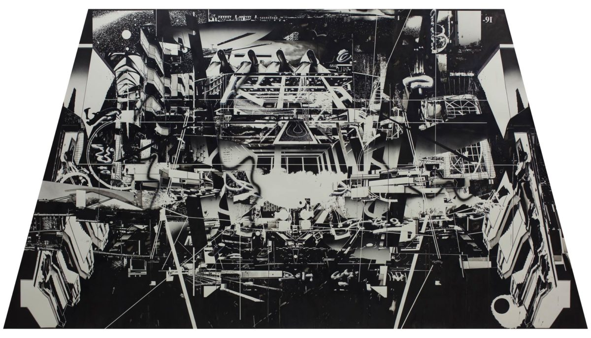 hiroki Tsukuda black drawing Entropy at Seattle Art Fair.