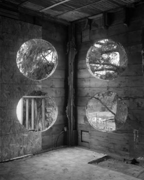 Four circles anamorphic photo by James Nizam at Seattle Art Fair 2016