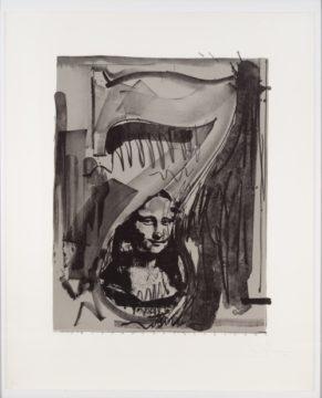 Japser Johns Figure 7 Mona Lisa in grey