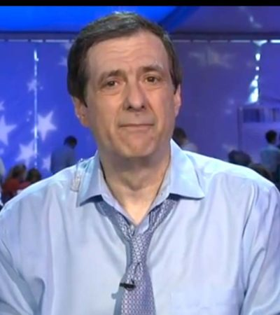 A Sweaty Howard Kurtz at the 2016 DNC