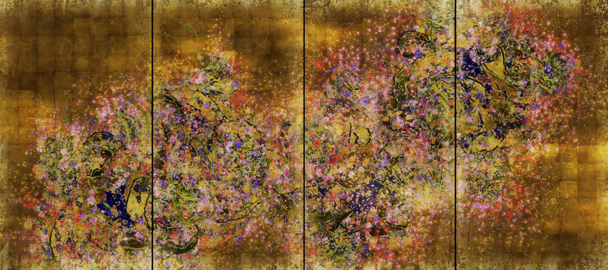 teamLab, Ever Blossoming Life II - A Whole Year per Year, Gold, 2016, Edition 4 of 6, Edition of 6 + 2 APs No. 62702.04