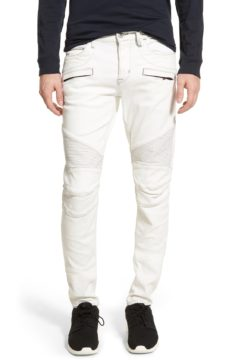 Hudson 'Blender' Skinny Fit Moto Jeans in Peroxide available at Nordstrom.