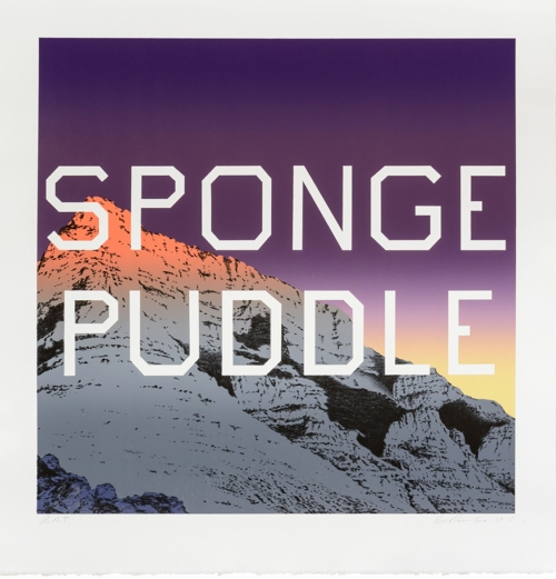 """""""Sponge Puddle"""" by Ed Ruscha, 2015, lithograph, 29"""" x 28"""". Edition 44/60"""