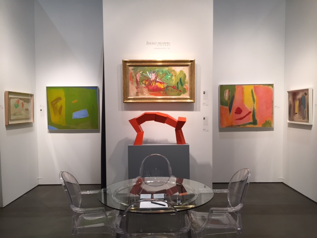 View of Jerald Melberg Gallery booth at Seattle Art fair 2016. Image courtesy of Jerald Melberg Gallery.