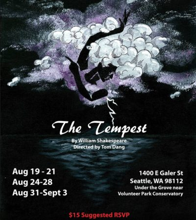 REBATEnsemble Theatre Group Presents: The Tempest, August 31-September 3