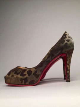 Christian Louboutin Very Prive Leopard Lame Pump
