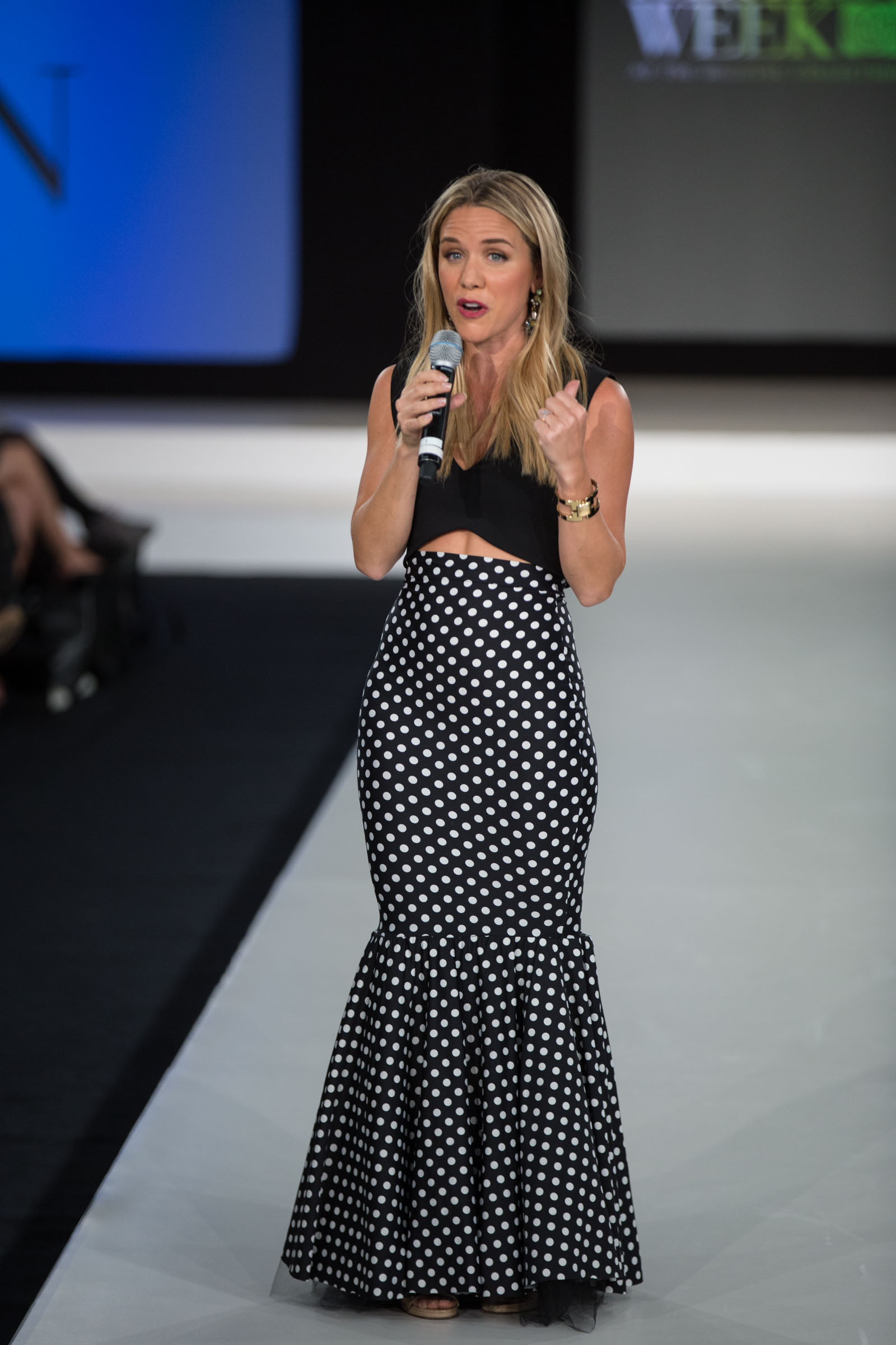 Vogue's Cara Crowley wearing a skirt from IDRS participant Lindsay Moen of Dollstreet.