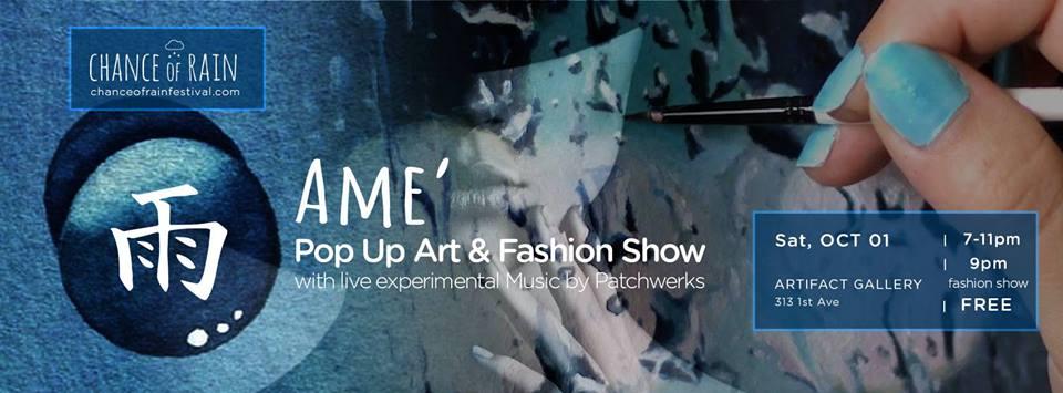 ame art show at Chance of Rain