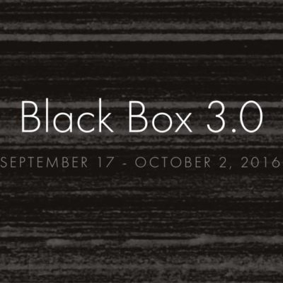 Black Box 3.0 Festival Program, September 17-October 2, 2016