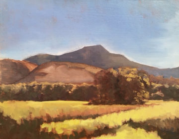 Plein air landscape by Riley Doyle. Image courtesy of Mainframe.