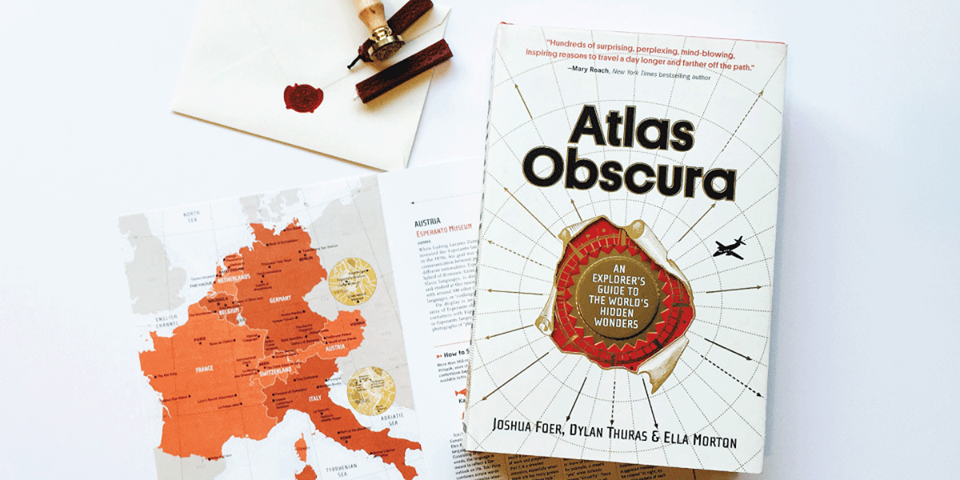 Atlas Obscura's first book, launching October 8 in partnership with Elliott Bay Book Company.