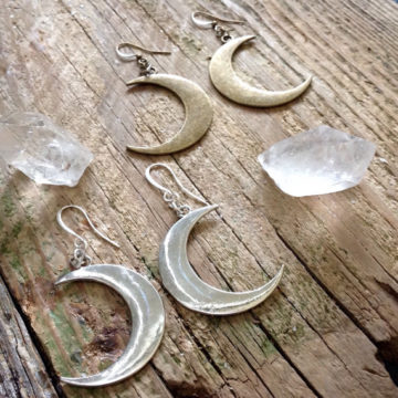 Crescent Earrings by Open the Cellar Door, available at Ghost Gallery.