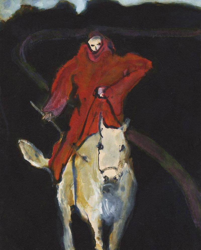 """Approaching Rider"" by John Lysak. Image courtesy of Harris/Harvey Gallery."