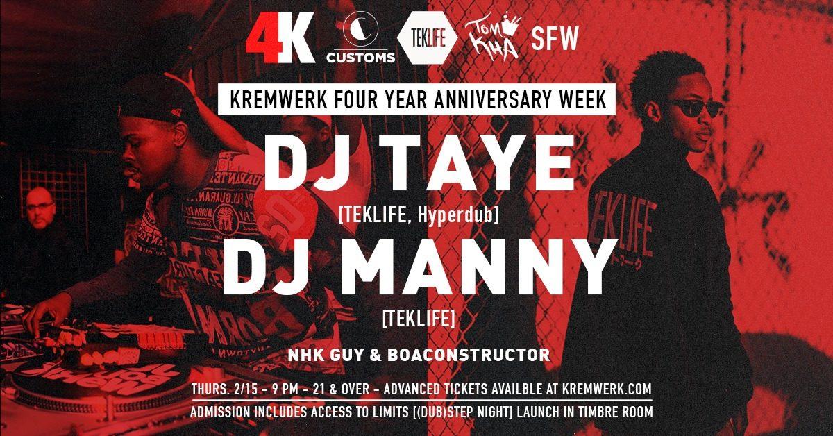 DJ Taye [Teklife, Hyperdub] & DJ Manny [Teklife] | Kremwerk4Year